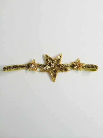 Amelia and Paprika sequin star headband in gold. Perfect for any glittery occasion. One size fits most.