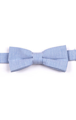 Appaman Bow Tie In Blue Bengal Stripe