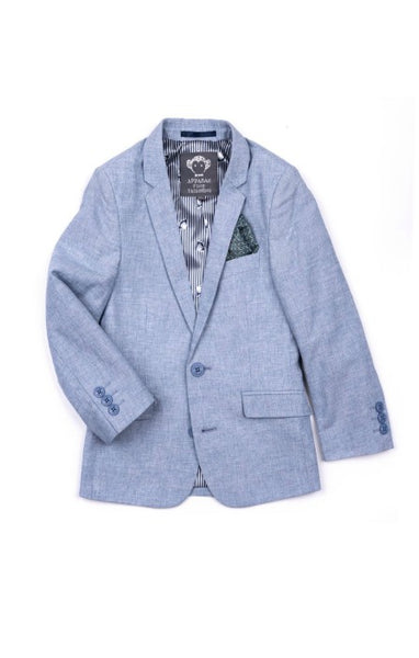 Appaman Boys Mod Suit Jacket In Sky Slub