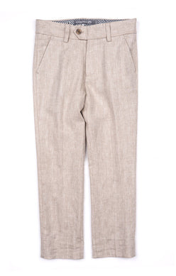 Appaman Boys Mod Suit Pant in Khaki Herringbone