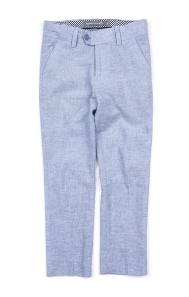 Appaman Boys Mod Suit Pant In Sky Slub