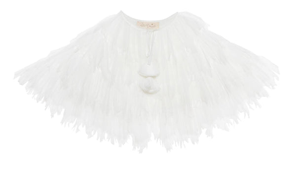 Tutu Du Monde Balmy Nights Cape in Milk available for rent from The Borrowed Boutique.