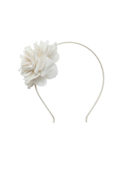 Tutu Du Monde Bloom Headband In Milk. Available for rent from The Borrowed Boutique.