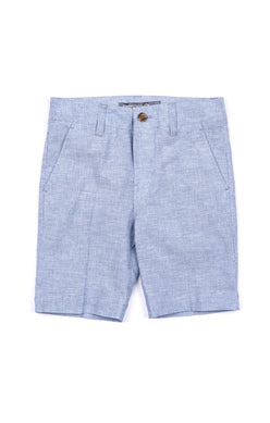 Appaman Suit Short In Blue Bengal Stripe