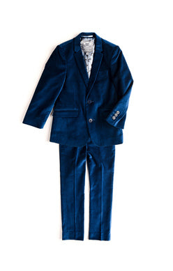 Appaman Boys Mod Suit Jacket in Seaport Velvet