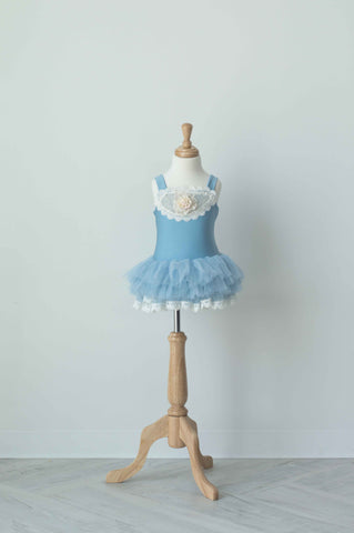 Dollcake China Doll Tutu Dress in Antique Blue