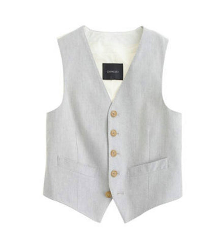 Crewcuts Ludlow Suit Vest in Melange Grey