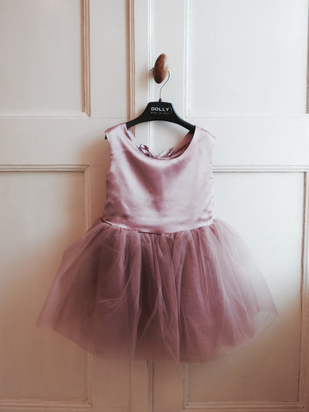 DOLLY by Le Petit Tom Ballet Dress In Dusty Pink for rent from The Borrowed Boutique.