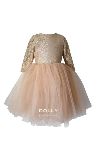 e40fb3c64393d DOLLY by Le Petit Tom ® the Waltz DRESS in Gold. A beautiful dress made