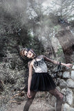 Girl wearing the Tutu Du Monde Mystic Night Tutu Dress In Black.