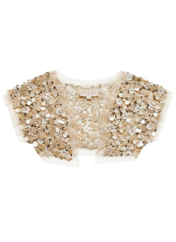 Tutu Du Monde Embellished Fields Shrug in Ginger available for rent from The Borrowed Boutique.