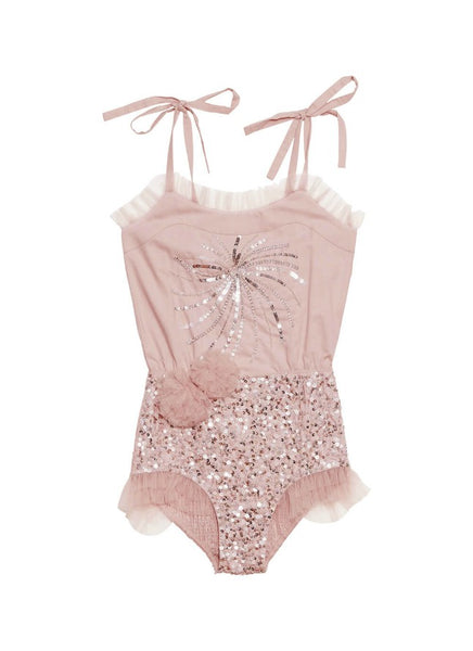 Tutu Du Monde Flicker Onesie In Rose. Available for rent from The Borrowed Boutique.