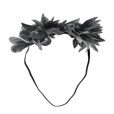 Halo Luxe Ebony Metallic Mini Stella Headband available for rent from The Borrowed Boutique.