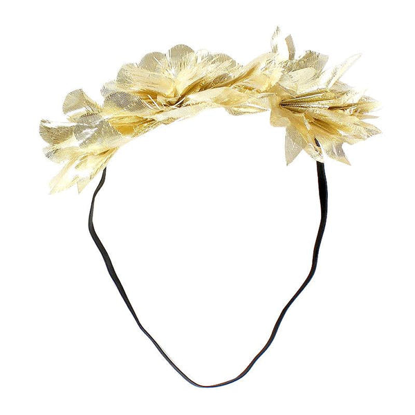 Halo Luxe Golden Mini Stella Headband available for rent from The Borrowed Boutique.