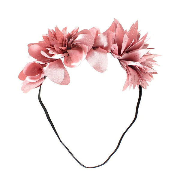 Halo Luxe Rosewood Mini Stella Headband available for rent from The Borrowed Boutique.