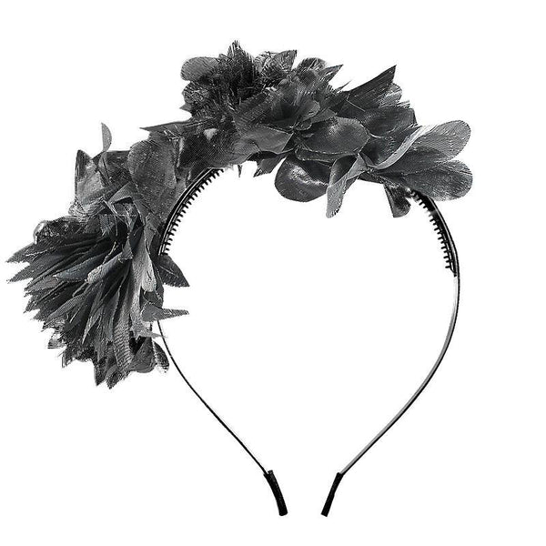 Halo Luxe Ebony Stella Headband available for rent from The Borrowed Boutique.