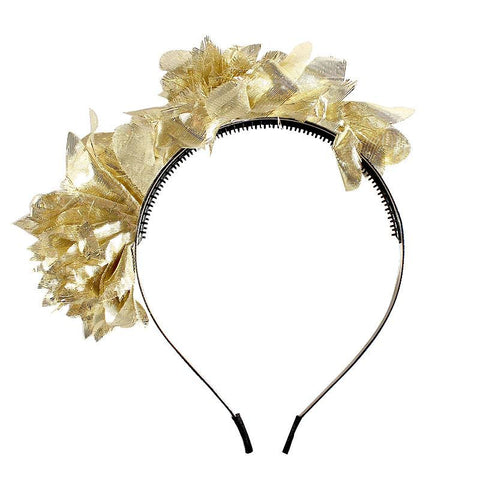 Halo Luxe Golden Stella Headband available for rent from The Borrowed Boutique.