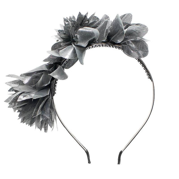 Halo Luxe Silver Moon Stella Headband available for rent from The Borrowed Boutique.
