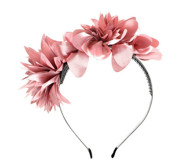 Halo Luxe Rosewood Stella Headband available for rent from The Borrowed Boutique.