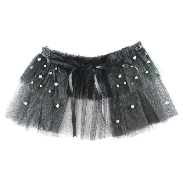 Halo Luxe Ebony Tulle Tutu Collar available for rent from The Borrowed Boutique.