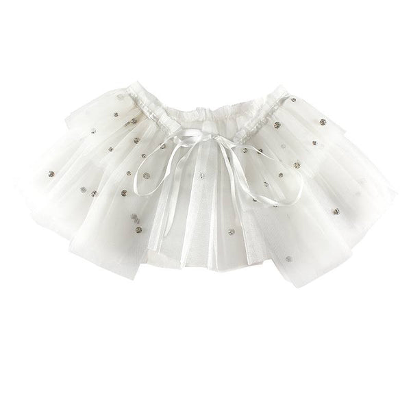 Halo Luxe Ivory Tulle Tutu Collar available for rent from The Borrowed Boutique.