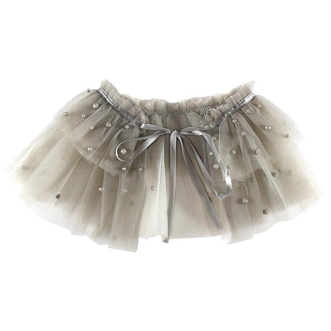 Halo Luxe Taupe Tulle Tutu Collar available for rent from The Borrowed Boutique.