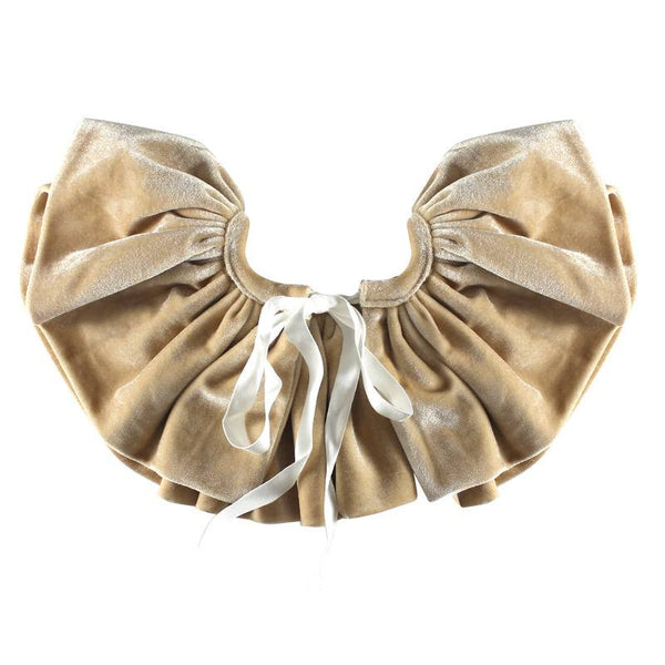 Halo Luxe Oatmeal Velveteen Bon Bon Collar available for rent from The Borrowed Boutique.