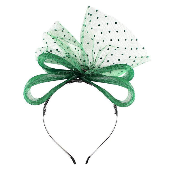 Halo Luxe Emerald Victoria Headband available for rent from The Borrowed Boutique.