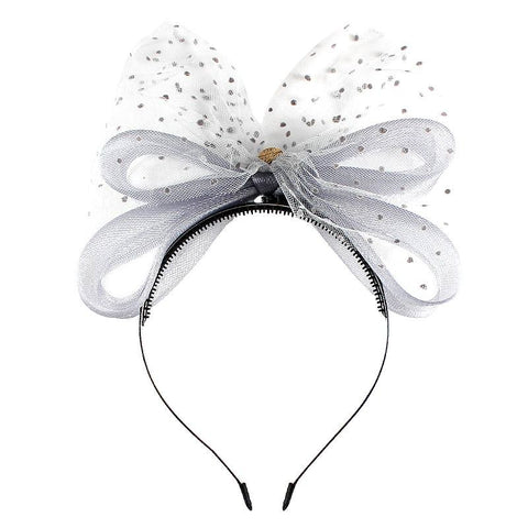 Halo Luxe Silver Moon Victoria Headband available for rent from The Borrowed Boutique.