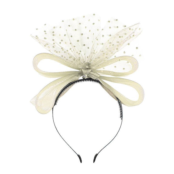 Halo Luxe Pearl Victoria Headband available for rent from The Borrowed Boutique.