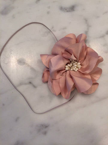 Harper Dusty Pink Floral Headband available for rent from The Borrowed Boutique.