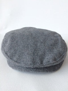 Janie and Jack Grey Wool Newsboy Hat