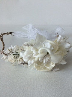 avry couture creations white floral halo