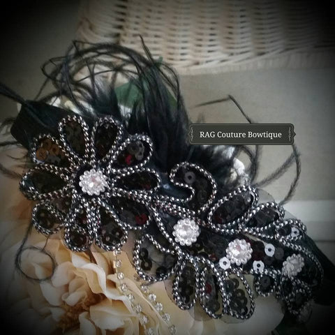 Imperial Princess Headband in Black available for rent from The Borrowed Boutique.