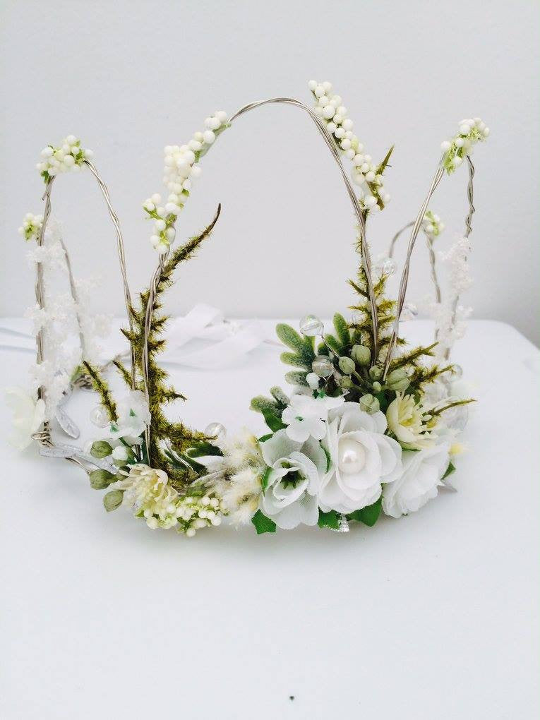 Little Lady Accessories Wedding White Flower Crown For Rent – The ...