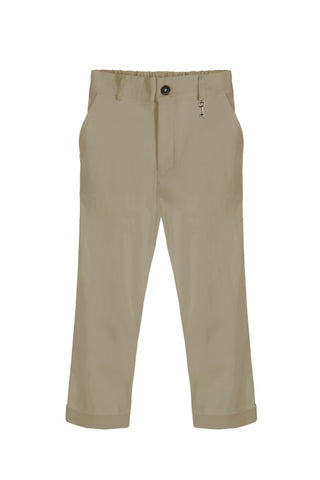 Little Wardrobe London Slim Cut Trouser In Sand