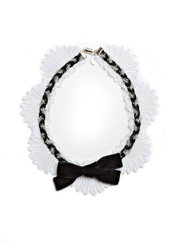 Modern Queen Kids Bewitched Bow Necklace in Black available for rent from The Borrowed Boutique.