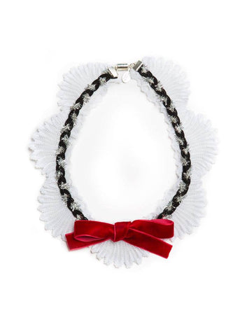Modern Queen Kids Bewitched Bow Necklace in Red available for rent from The Borrowed Boutique.