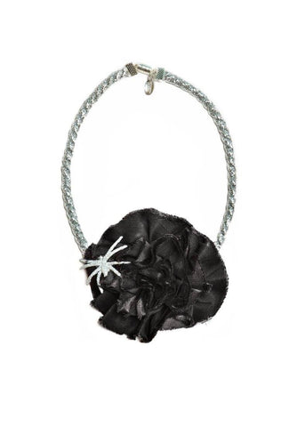 Modern Queen Kids Haunted Rose Necklace in Black available for rent from The Borrowed Boutique.