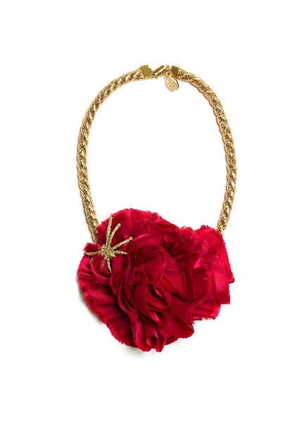 Modern Queen Kids Haunted Rose Necklace in Red available for rent from The Borrowed Boutique.
