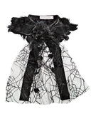 Modern Queen Kids Spider Web Collar in Black available for rent from The Borrowed Boutique.
