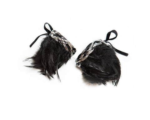 Modern Queen Kids Spun Beauty Cuffs in Black available for rent from The Borrowed Boutique.