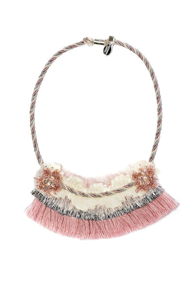 Modern Queen Kids A Winter's Night Necklace in Rose available for rent from The Borrowed Boutique.