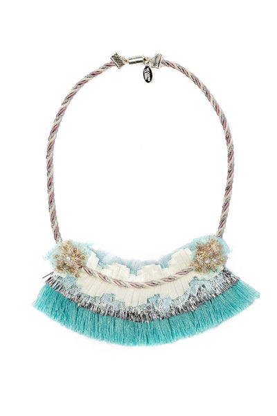 Modern Queen Kids A Winter's Night Necklace in Seafoam available for rent from The Borrowed Boutique.