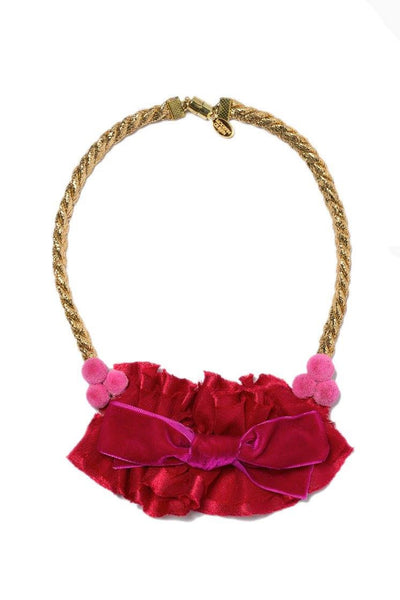 Modern Queen Kids Afternoon Show Necklace in Red available for rent from The Borrowed Boutique.