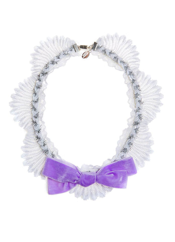 Modern Queen Kids Afternoon Tea Necklace in Lavender available for rent from The Borrowed Boutique.
