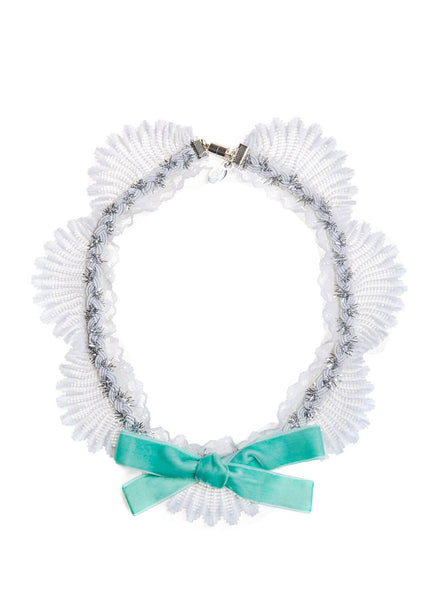 Modern Queen Kids Afternoon Tea Necklace in Seafoam available for rent from The Borrowed Boutique.