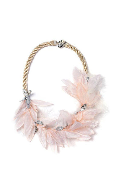 Modern Queen Kids Blush Magic Necklace in Blush Pink available for rent from The Borrowed Boutique.