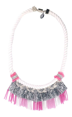 Modern Queen Kids Carnival Necklace in Hot Pink available for rent from The Borrowed Boutique.