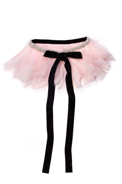 Modern Queen Kids Flights of Fancy Collar in Pink available for rent from The Borrowed Boutique.